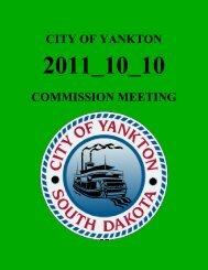 CITY OF YANKTON COMMISSION MEETING