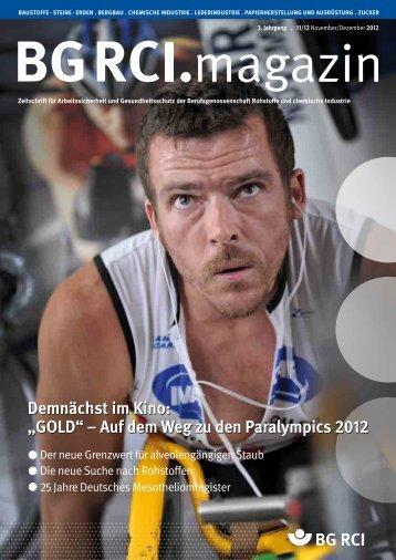BG RCI Magazin Ausgabe 11/12 2012 - Berufsgenossenschaft ...