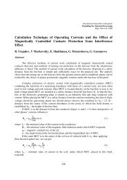 Calculation Technique of Operating Currents and the Offset of ...