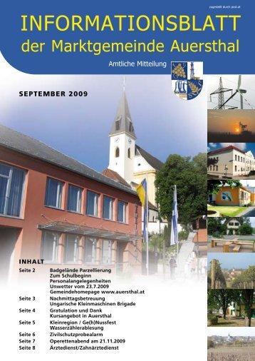 September 2009 - Marktgemeinde Auersthal