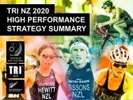 2020 High Performance Plan - Triathlon New Zealand