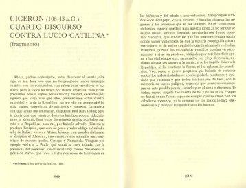 cuarto discurso contra lucio catilina - Frente de Afirmación Hispanista
