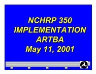 NCHRP Report 350 - National Work Zone Safety Information ...