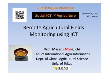 Remote Agricultural Fields Monitoring using ICT