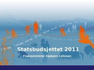 Lysark til pressekonferansen - Statsbudsjettet
