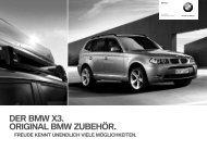 DER BMW X3. ORIGINAL BMW ZUBEHÖR. - BMW Diplomatic Sales