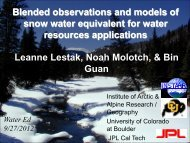 Blended observations and models of snow water equivalent for ...