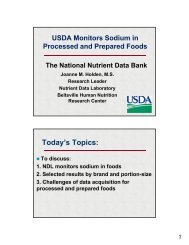 USDA Monitors Sodium in Processed and Prepared Foods The ...