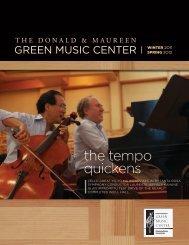 Green Music Center Newsletter, Winter 2011 / Spring 2012