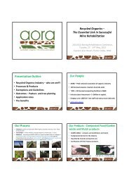 Recycled Organics - GEMS Event Management
