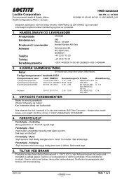 HMS-datablad Loctite Corporation 1. HANDELSNAVN OG ...