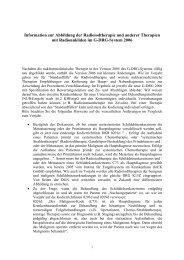 Information zur Abbildung der Radioiodtherapie und anderer ...