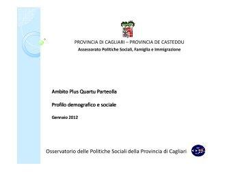 Profilo d'Ambito Plus Quartu 2012 - Sociale - Provincia di Cagliari