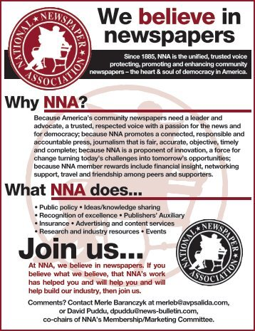 Join us... - National Newspaper Association