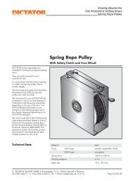 13 Spring Rope Pulley - Dictator