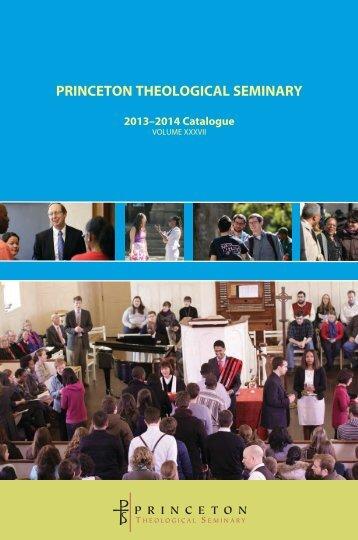 PTS Catalogue - Princeton Theological Seminary