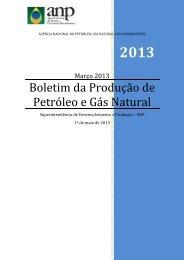 Boletim da Produção de Petróleo e Gás Natural – Março 2013 - Cogen
