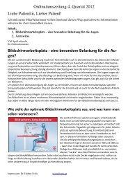 Ordinationszeitung 4. Quartal 2012 Liebe Patientin ... - Dr. Hubert Fröis