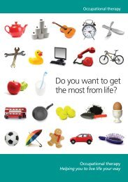 Do you want to get the most from life? - College of Occupational ...