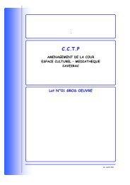 CCTP LOT 1 gros oeuvre - Mairie de Caveirac