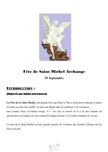 Saint Michel Archange - Benoit,religion universelle