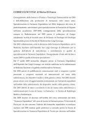 CURRICULUM VITAE di Marisa Di Franco - Sifo