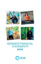 SEPARATE FINANCIAL STATEMENTS 2010 - A2A