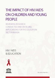 The impact of HIV/AIDS on children and - UNESCO Bangkok