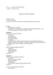 persönliches Archiv Dr. Wolf-Peter Schnetz - Staatliche Bibliothek ...