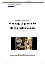 Hommage au journaliste afghan Sultan Munadi