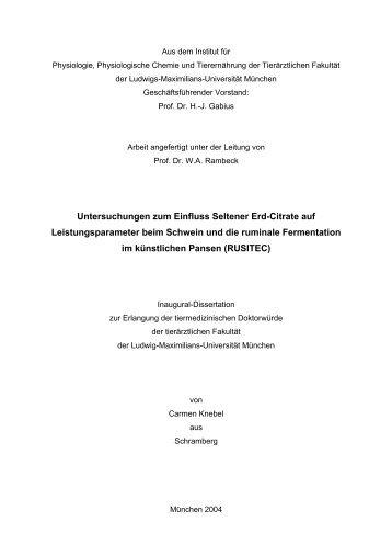 Untersuchungen zum Einfluss Seltener Erd-Citrate ... - lanthanoide.de