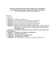 Wytyczne dotyczące przygotowania i obrony pracy dyplomowej na ...