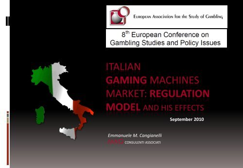 Italian gaming machines market: Regulation model and his effects
