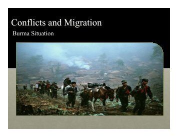 Conflicts and Migration - Mekong Migration Network