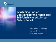 Automated Self-Administered 24-hour Dietary Recall