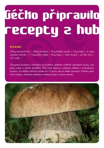 KULAJDA 250 g čerstvých hub | 500 g brambor | 50 g hladké mouky ...