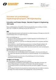 Innovation och produktdesign - högskoleingenjörsprogram, 180 hp