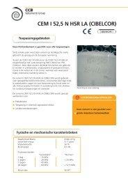 CEM I 52,5 N HSR LA (CIBELCOR) - CCB