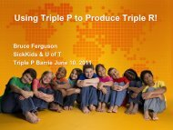 Using Triple P to Produce Triple R!