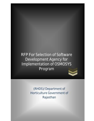 RFP after pre bid meeting for selection of SDA - Directorate of ...