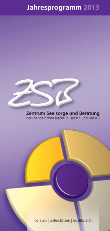 Jahresprogramm 2013 - Zentrum Seelsorge und Beratung - EKHN