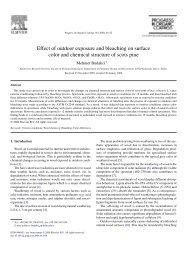Effect of outdoor exposure and bleaching on surface color and ...