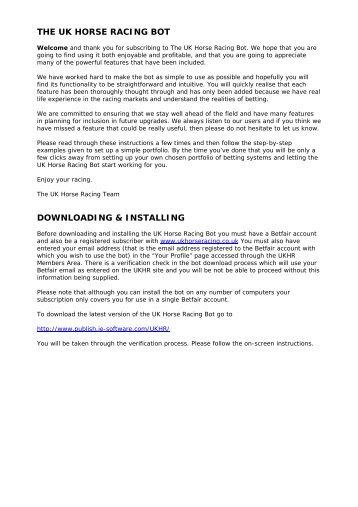 PDF Format - UK Horse Racing
