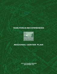 Washington Square Regional Center Plan - Scholars