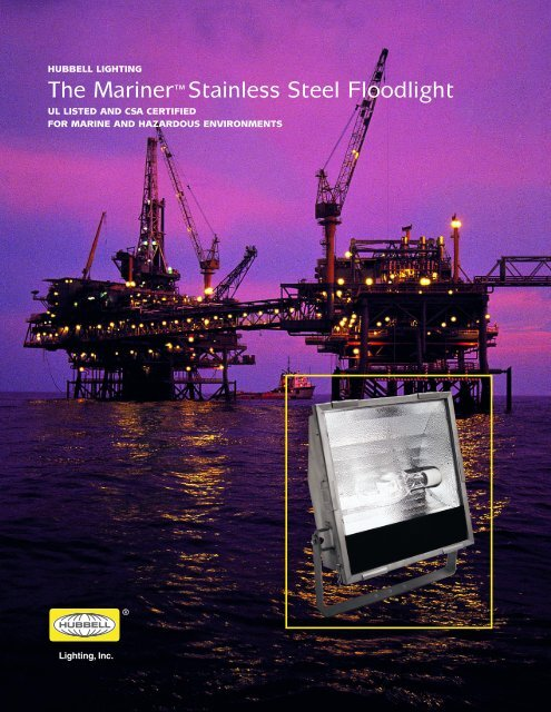 Mariner Stainless Steel Floodlight - Hubbell Industrial Lighting