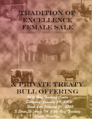 2005 Female Sale & Private Treaty Bull Offering Catalog