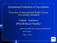 International Federation of Accountants Tadashi Sekikawa IPSASB ...