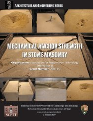 mechanical anchor strength in stone masonry - National Center for ...