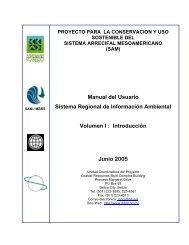 Sistema Regional de Información Ambiental. Volumen 1