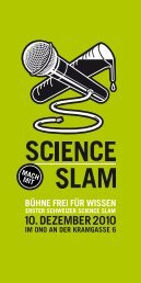Flyer 1. Science Slam - Generalsekretariat - Universität Bern